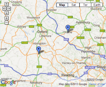 Harwell Electrician - Thame Electrician Location Map