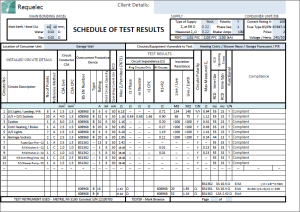 Periodic testing and inspection part p 17th edition for Electrical minor works certificate template